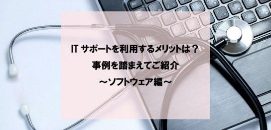 ITサポートを利用するメリットは?事例を踏まえてご紹介~ソフトウェア編~