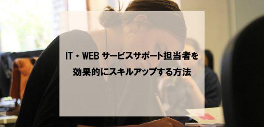 IT・WEBサービスサポート担当者を効果的にスキルアップする方法